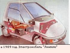 1989 год. Электромобиль Лимпопо