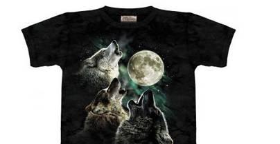 Футболки с рисунком волков