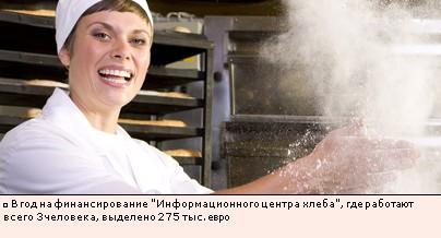 В год на финансирование Информационного центра хлеба, где работают всего 3 человека, выделено 275 тыс. евро