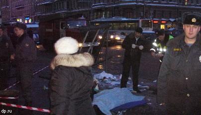 В ДТП с автобусом на Невском проспекте погибли два человека