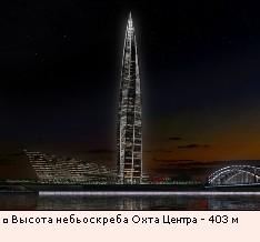 Высота небьоскреба Охта Центра - 403 м