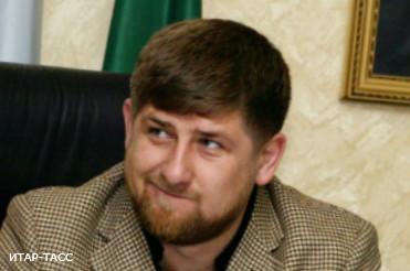 """Президент Чечни Рамзан Кадыров на интернет-конференции """"Диалог с президентом"""" в Грозном."""