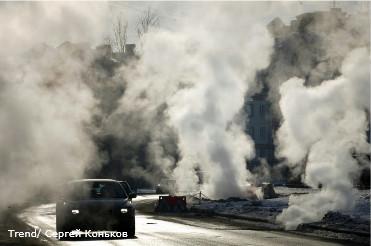 Россия, Санкт-Петербург. Авария на тепломагтистрали в городе Пушкин.