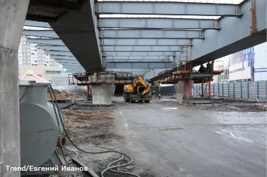 Россия, Санкт-Петербург.  Строительство развязки в районе Савушкина-Планерная.