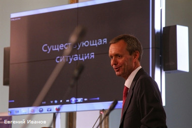 Юрий Молчанов, конференция на тему развития площади Восстания