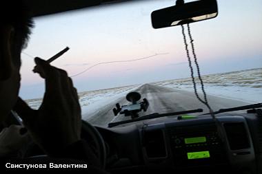 Дорога из Узбекистана в Россию с мигрантами.