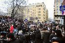 Люди у здания Хамовнического суда, где оглашается приговор по делу М.Ходорковского и П.Лебедева.
