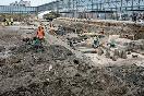 Раскопки на Охтинском мысу, апрель 2010 года  (Фото: Trend)