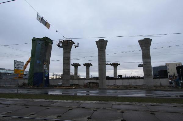 Строительство развязки в районе Савушкина-Планерная.